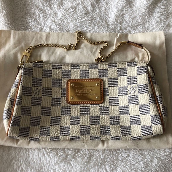 8cf0b2ee644d Louis Vuitton Handbags - LOUIS VUITTON Damier Azur Eva Clutch